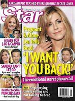 Star Magazine Jennifer Aniston Brad Pitt Jennifer Lopez Sandra Bullock 2012