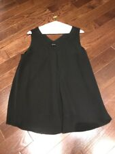 Women's Theory Black Sleeveless Top, size M - Great Cond Just Dry Cleaned