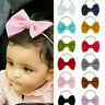 Kids Baby Girls Toddler Bow Hair band Headband Stretch Turban Knot Head Wrap