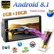 7'' Android 8.1 Quad-Core Car Stereo MP5 Player GPS WiFi Navi FM Mirrorlink+Cam