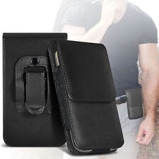 For ZTE Blade A512 - Premium PU Leather Belt Pouch Holster Case Cover
