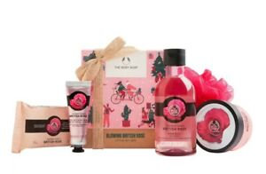 THE BODY SHOP GLOWING BRITISH ROSE LITTLE GIFT BOX TRAVEL SET NEW