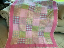 "Britannica Home Fashions Pink Patchwork Quilt 63"" by 86"""