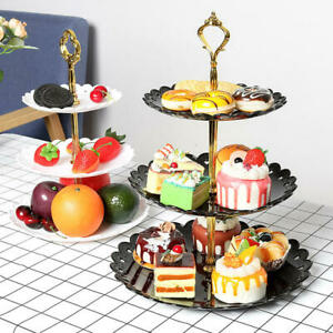 3-Tier Cake Stand Cupcake Dessert Snack Shelf Wedding Event Party Display Plate