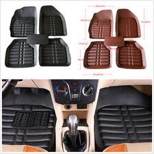 5Pcs Black PU Leather Car Floor Mats Front+Rear Liner Carpet Floor Mat Skidproof