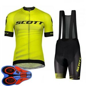 Mens Breathable Cycling Short Sleeve Jersey Bib Shorts Set Team Bicycle Outfits