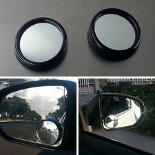 2xVehicle Wide Angle Rear View Side Blind Spot Convex Mirror Black For Cadillac/