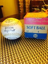 "Vintage Early Spalding 759 Kapok Center Softball 12"" with Orig.Box Used Baseball"