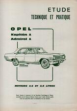▬►REVUE TECHNIQUE RTA de 1970  --  OPEL KAPITAN A_ADMIRAL A  --