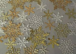 30 x Die Cut Snowflake Embellishments Craft Card Making Toppers Random mix