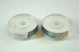 20 Pack Nashua Mini DVD-RW 30 Min. 1.4GB Camcorder Blank Disk Rewritable 8cm NEW