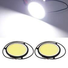 2Pcs 90mm DC12V COB Car DRL Round Shape Daytime Running Light White LED Lights
