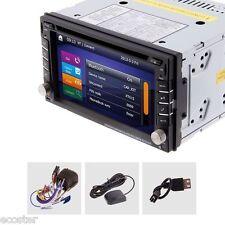 GPS Navigation HD Double 2DIN Car Stereo DVD Player Bluetooth iPod MP3 FM+Camera