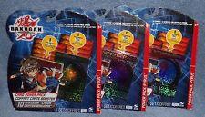 BAKUGAN CARD POWER PACKS LOT THREE PACKS  LOT #9