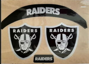 RAIDERS-(BLACK ICE OUT) SPEED  Football Helmet DECALS-with Extras