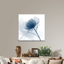 Canvas Print Painting Pictures Wall Art Home Decor Blue Flower Abstract Framed