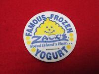 1993 Zack's Famous Frozen Yogurt Hawaii promotional milk cap- dairy pog Stanpac
