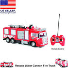 Remote Control Fire Truck Rescue Water Cannon RC Fire Truck Toy
