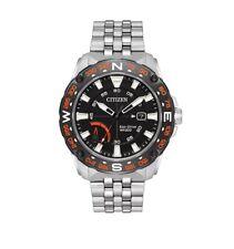 Citizen Eco-Drive Men's AW7048-51E PRT Black Compass Dial Silver-Tone 44mm Watch