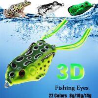 Suave de señuelos de pesca La rana de goma Spinner hundimiento Bass cebo