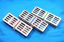 3 German Dental Autoclave Sterilization Cassette Rack Box Tray For 5 Instrument