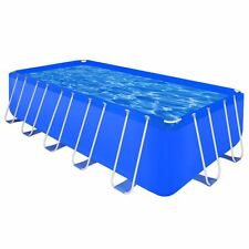 "Rectangular Above Ground Swimming Pool Reinforced Steel 17' 9"" x  8' 10"" x 4'"