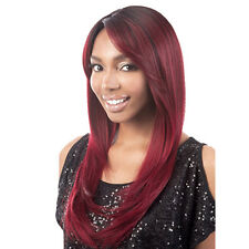 Women's Wig Ombre Burgundy Synthetic Hair Long Straight Full Hair Cosplay 99J