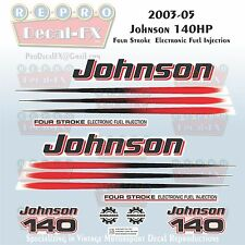 2003-05 Johnson 140 HP Four Stroke EFI Outboard Reproduction 17 Pc Vinyl Decals