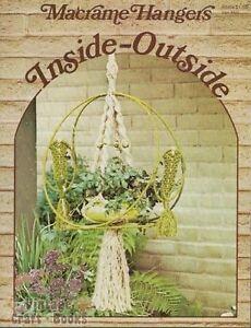 Macrame Hangers Inside-Outside Plant Planters Vintage Instruction Book NEW 1976