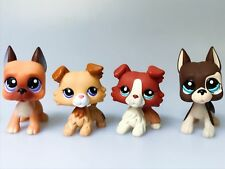 4×Littlest Pet Shop LPS Toys Collection Great Dane Dogs #244 Collie Dogs Gift