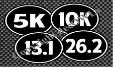 Runner 5K 10K 13.1 26.2 Marathon Decals  Window/Car/Truck **4 Pack - 20 Colors**