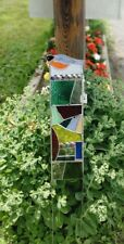 Stained Glass Garden Stake Suncatcher Bird Lovers Decoration Wispy Birfie