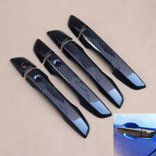 Carbon Fiber Style Side Door Handle Bowl Cover For Honda Civic 10th 2016 2017