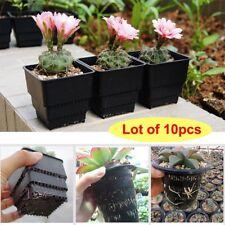 10pcs Black Plant Flower Nursery Pots Planting Planter Garden Container Pot