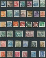 Lot Stamp Germany Bohemia WWII 3rd Reich Hitler AH Linden Prague Newspaper Used