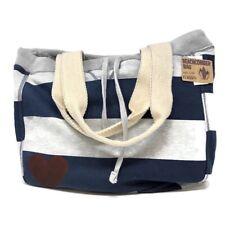 Heart Print MV Sport Beachcomber Bag Tote - Navy/Gray - NWT