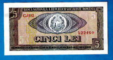 More details for rare unc romania p93 5 lei arms socialist republic national bank issue 1966