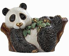 More details for de rosa panda on tree figurine new in gift box