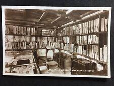 Vintage Postcard - Dorset #A28 - RP Chain Library, Wimborne Minister