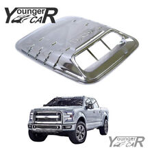 Universal Hood Vent Louver Scoop Cover Air Flow Intake Cooling Panel ABS Chrome