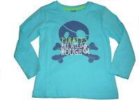 NEU Dopodopo cooles Langarm Shirt Gr. 92 blau mit Piraten Motiv !!