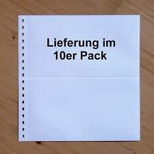 LINDNER Omnia Einsteckblatt 010 weiß 2 Streifen - 10er-Packung