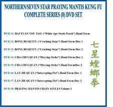 Northern/Seven Star Praying Mantis Kung Fu Complete Series (8) Dvd Set