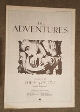 The Adventures 1988 press advert Full page 30 x 42 cm mini poster