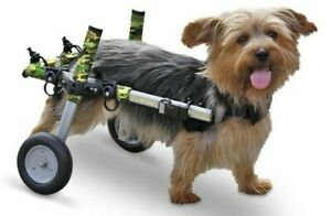 Walkin Walking Wheels Wheelchair for Handicapped Pets 8-25 lbs Camo Small Dog