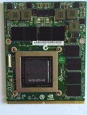 NEW GeForce GTX 480M N11E-GTX-A3 DDR5 2GB MXM 3.0 VGA Video Card 5WNEGX001