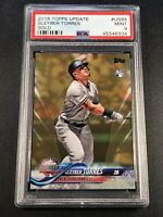 GLEYBER TORRES 2018 TOPPS UPDATE #US99 GOLD PARALLEL ROOKIE RC #'D /2018 PSA 9