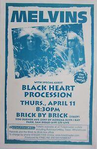 MELVINS / BLACK HEART PROCESSION 2002 SAN DIEGO CONCERT TOUR POSTER- Metal Music