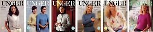 Unger Knitting Pattern Leaflets - Adult Sweaters - NOS