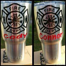 Firefighter Tumbler decal sticker fits Yeti Rtic Ozark any brand 20 30 oz